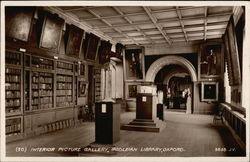 Bodleian Library - Interior Picture Gallery Postcard