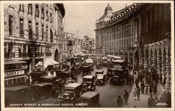Regent Street & Piccadilly Circus Postcard