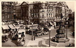 Piccadilly Circus & Eros Postcard