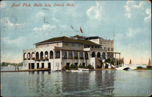 Boat Club, Belle Island Detroit Michigan