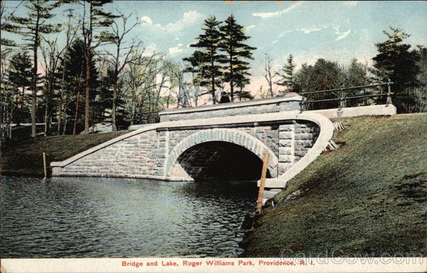 Bridge and Lake, Roger Williams Park Providence Rhode Island