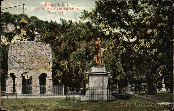 The Old Mill & Chaning Statue, Truro Park Newport Rhode Island