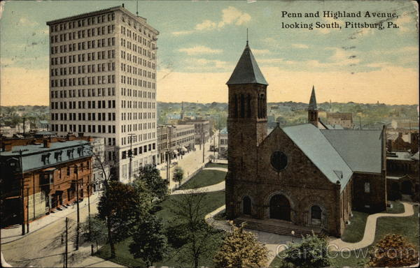 Penn and Highland Avenue, Looking South Pittsburgh Pennsylvania