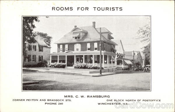 Rooms for Tourists Winchester Virginia