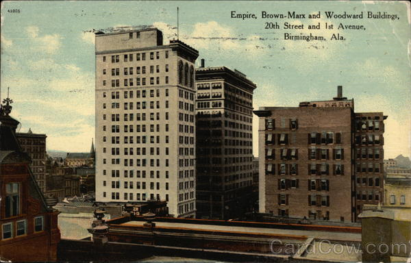 Empire, Brown-Marx and Woodward Buildings Birmingham Alabama
