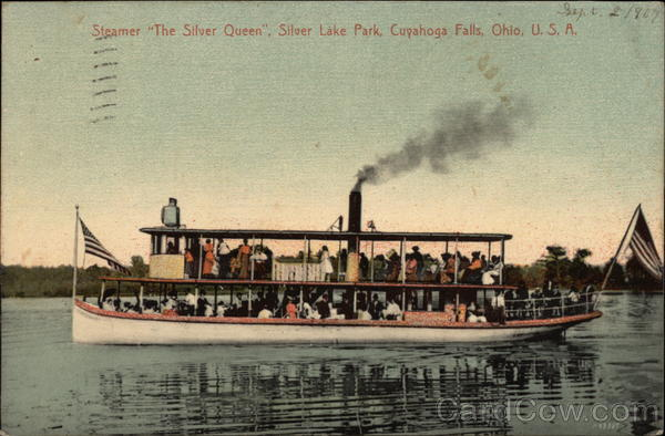 Steamer The Silver Queen, Silver Lake Park Cuyahoga Falls Ohio