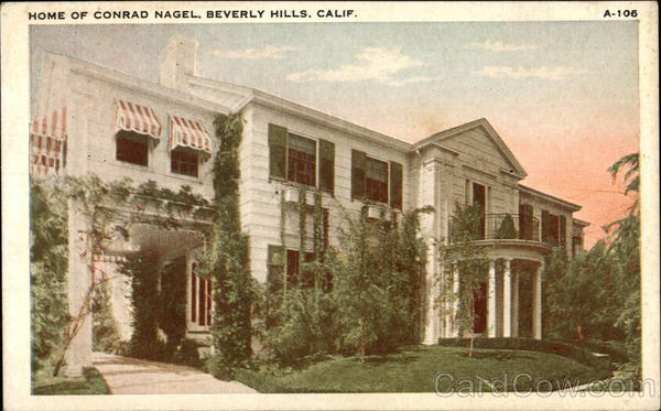 Home of Conrad Nagel Beverly Hills California