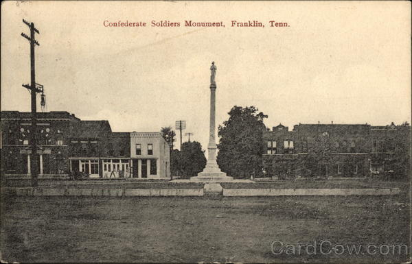Confederate Soldiers Monument Franklin Tennessee