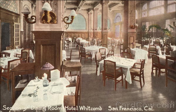 Hotel Whitcomb - Dining Room San Francisco California