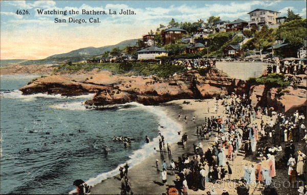 Watching the Bathers at La Jolla San Diego California