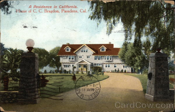 A residence in California, Home of C.C. Bragdon Pasadena
