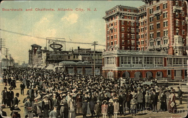 Boardwalk and Chalfonte Atlantic City New Jersey