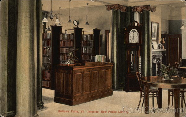 Interior, New Public Library Bellows Falls Vermont