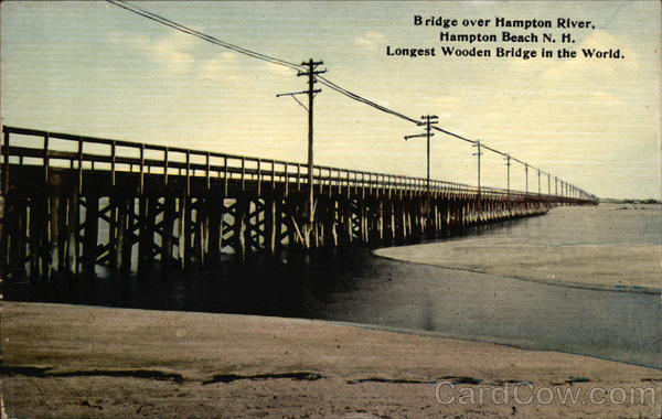 Bridge over Hampton River Hampton Beach New Hampshire