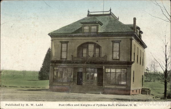 Post Office and Knights of Pythias Hall Plaistow New Hampshire