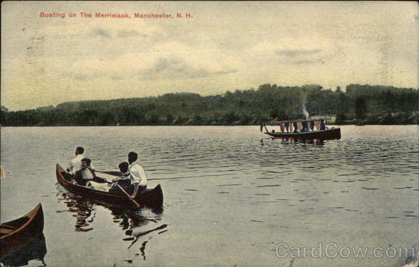 Boating on the Merrimack Manchester New Hampshire