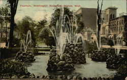 Fountain, Washington Boulevard Postcard