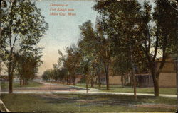 Driveway of Fort Keogh