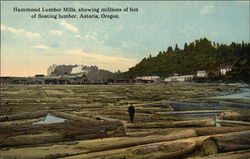 Hammond Lumber Mills, showing millions of feet of floating luber