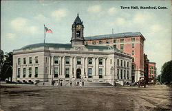 Town Hall in Stamford, Connecticut Postcard