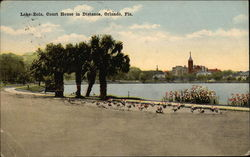 Lake Eola, with Court House in Distance, in Orlando, Florida