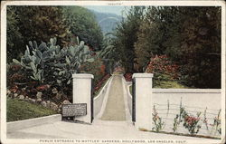 Public Entrance to Wattles' Gardens, Hollywood