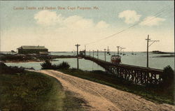 Casino Trestle and Harbor View in Cape Porpoise, Maine