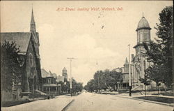 Hill Street, Looking West Postcard
