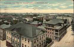 Bird's Eye View from St. Michael's Church Postcard