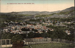 Bird's-eye view of Los Gatos