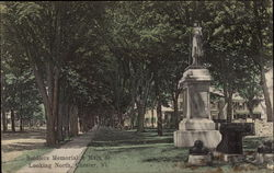 Soldiers Memorial at Main Street, looking North