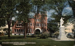 Spaulding High School and Burns Monument