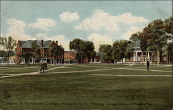 Campus of Dartmouth College, Showing College Hall and Hanover Inn