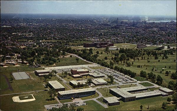 Aerial View of Rhode Island College Mount Pleasant