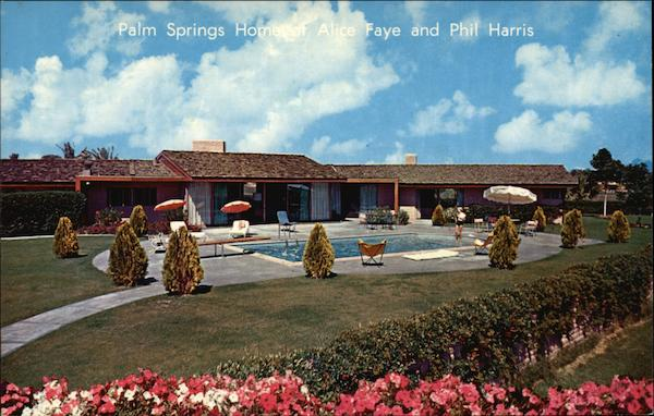 Home of Alice Faye and Phil Harris Palm Springs California