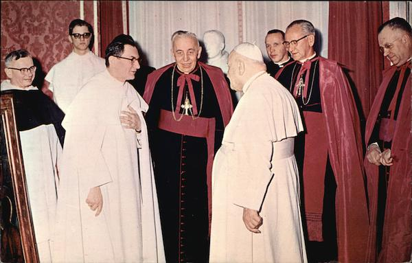 Pope John XXIII and Father Michael M. Zembrzuski, O.S.P Vatican City Italy