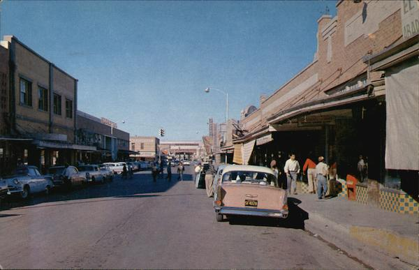 Looking North on Guerro St Nuevo Laredo Mexico