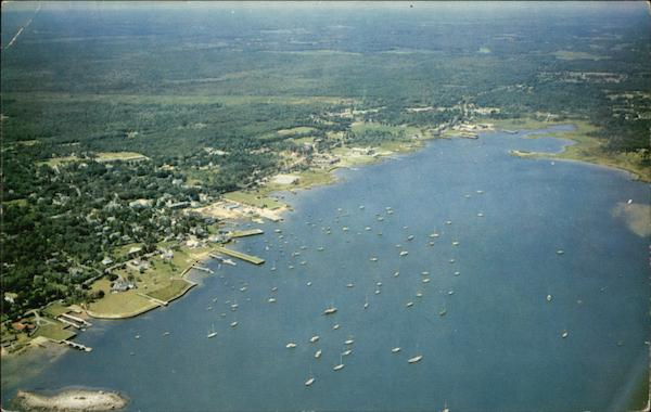 Aerial View of Sippican Harbor Marion Massachusetts