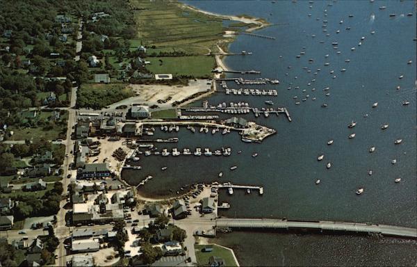 Aerial View Of Padanaram Harbor South Dartmouth, MA