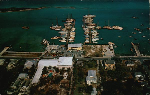 Aerial Photograph of the Pilot House Club and Yacht Haven Nassau Bahamas