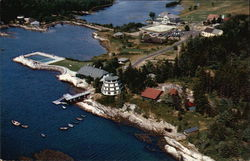 Aerial View of Sebasco Lodge and Cottages