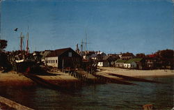 Waterfront scene, at the tip of Cape Cod