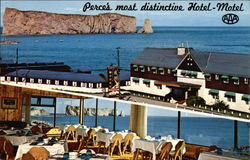 Hotel-Motel Perce-Sur-Mer Postcard