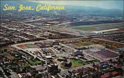 Aerial View of San Jose, California, and Its Civic Center