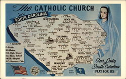The Catholic Church in South Carolina Postcard