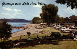 View of Beach area and Lake Pepin