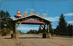 Entrance to Santa's Workshop Postcard