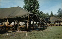 Camp life for the National Guard at Camp Grayling