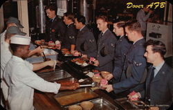 Mess Hall Line Postcard