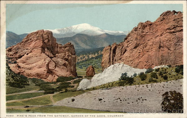 Pike's Peak from the Gateway, Garden of the Gods Colorado